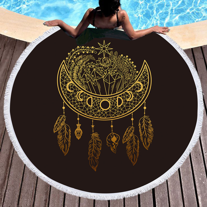 Dark Nights Throw / Beach Towel - Bohemian Vibes Australia