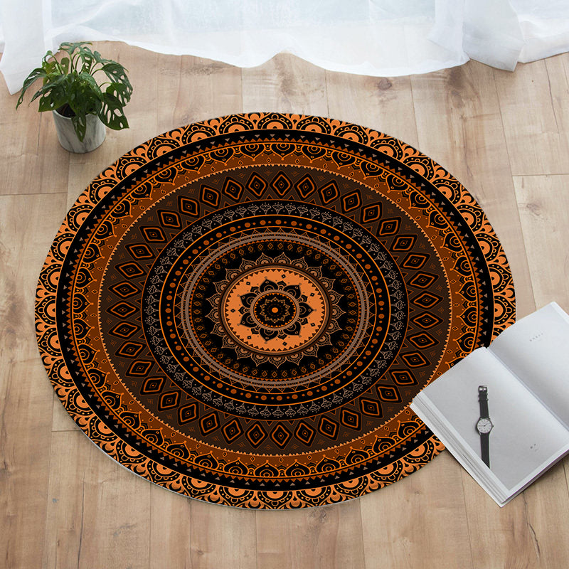 Sunset Round Floor Mat
