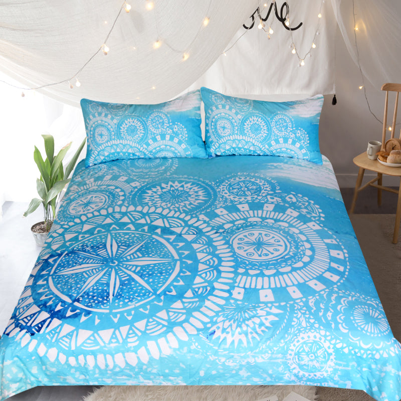 Deep Sea Quilt Cover Set - Bohemian Vibes Australia