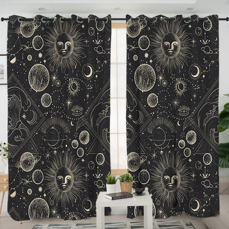 Astrology Curtains - Bohemian Vibes Australia