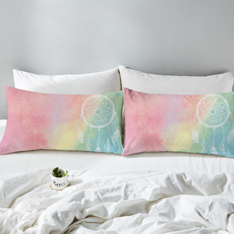 Rainbow Bohemian Dreams Pillowcases - Bohemian Vibes Australia