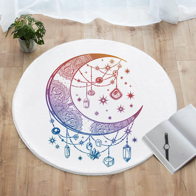 Crystal Nights Round Floor Mat