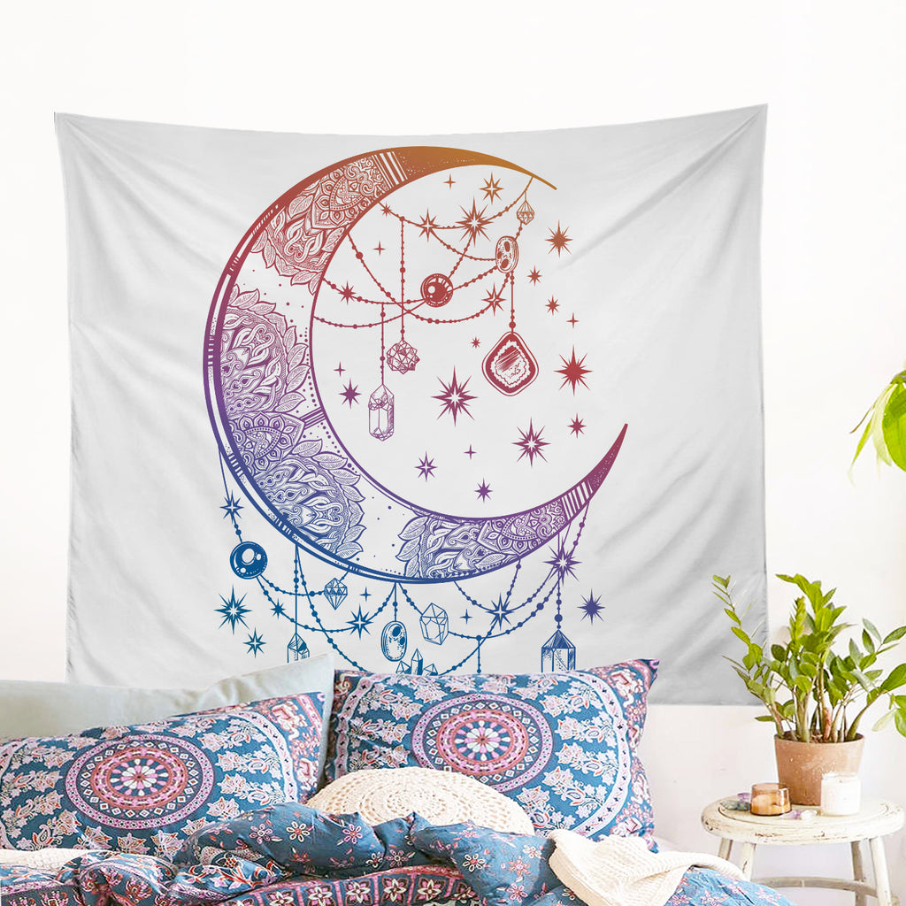 Crystal Nights Wall Tapestry - Bohemian Vibes Australia