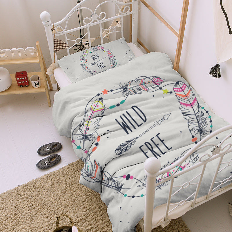 Wild One Kids Quilt Cover Set - Bohemian Vibes Australia