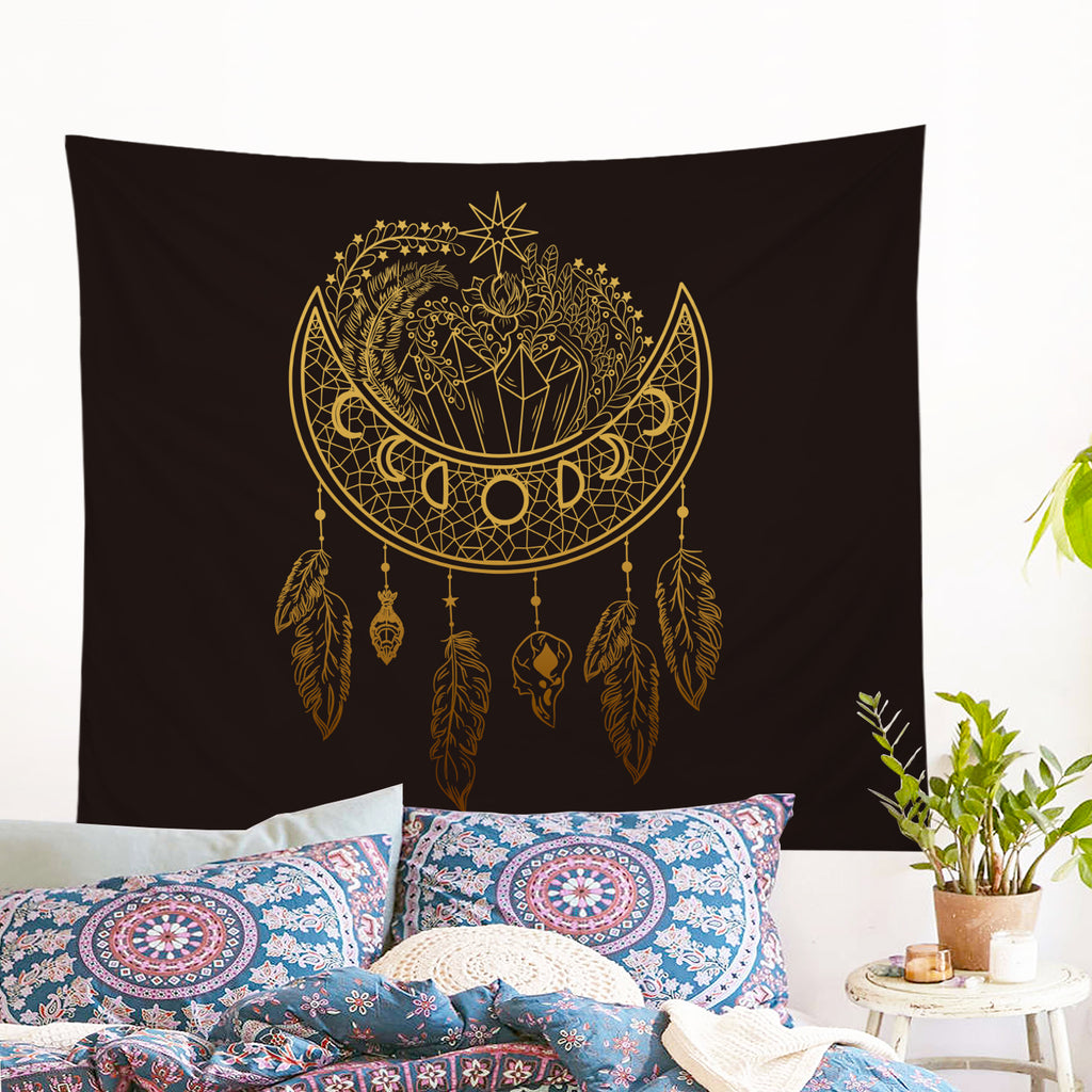 Dark Nights Wall Tapestry - Bohemian Vibes Australia