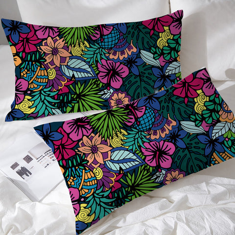 Tropical Elephant Pillowcases  *LIMITED EDITION*