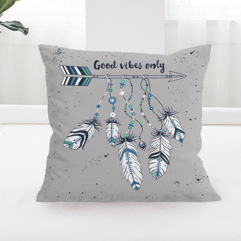 Blue Good Vibes Only Cushion Cover - Bohemian Vibes Australia