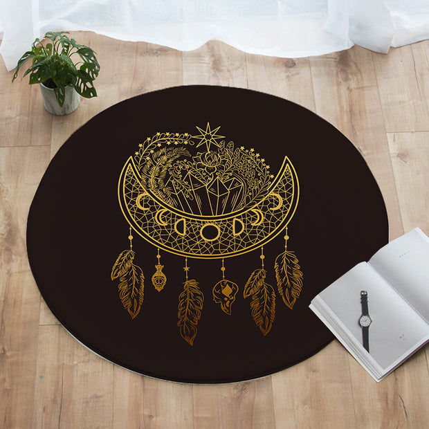 Dark Nights Round Floor Mat