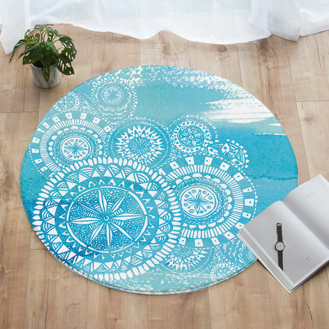 Deep Sea Round Floor Mat