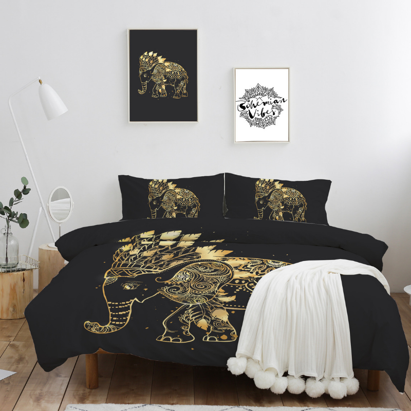 Elephant Chief Quilt Cover Set