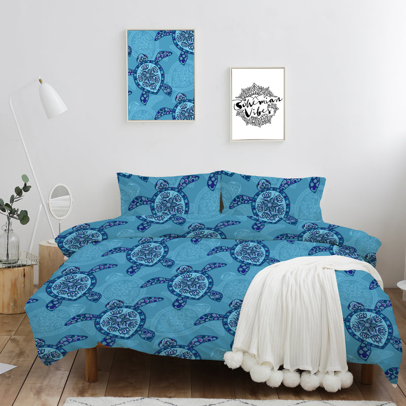 Sea Turtle Quilt Cover Set - Bohemian Vibes Australia