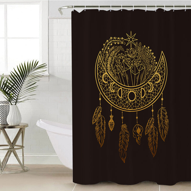 Dark Nights Shower Curtain - Bohemian Vibes Australia