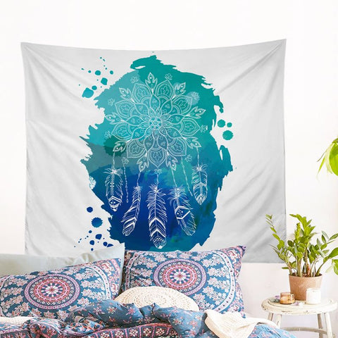 Lotus Dreamcatcher Wall Tapestry