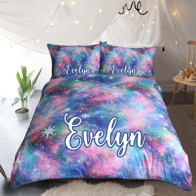 Galaxy Personalised Quilt Cover Set - Bohemian Vibes Australia