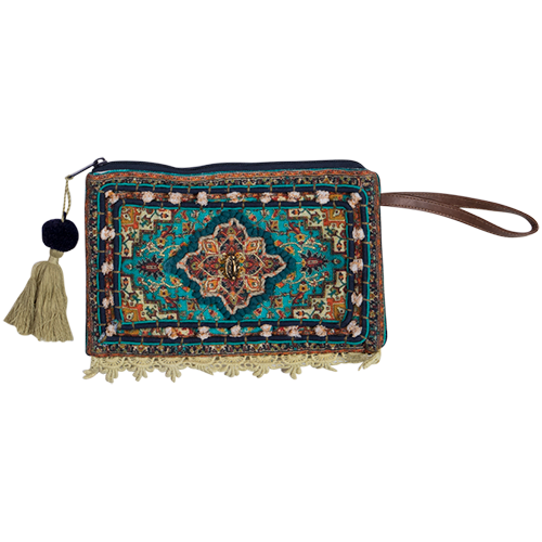 Brocade Clutch Purse - Jewel - Bohemian Vibes Australia