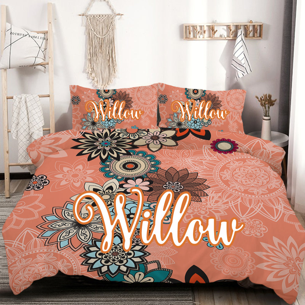 Customised Coral Quilt Cover Set - Bohemian Vibes Australia