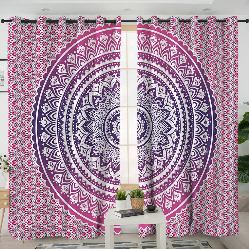 Pink Ombre Curtains - Bohemian Vibes Australia