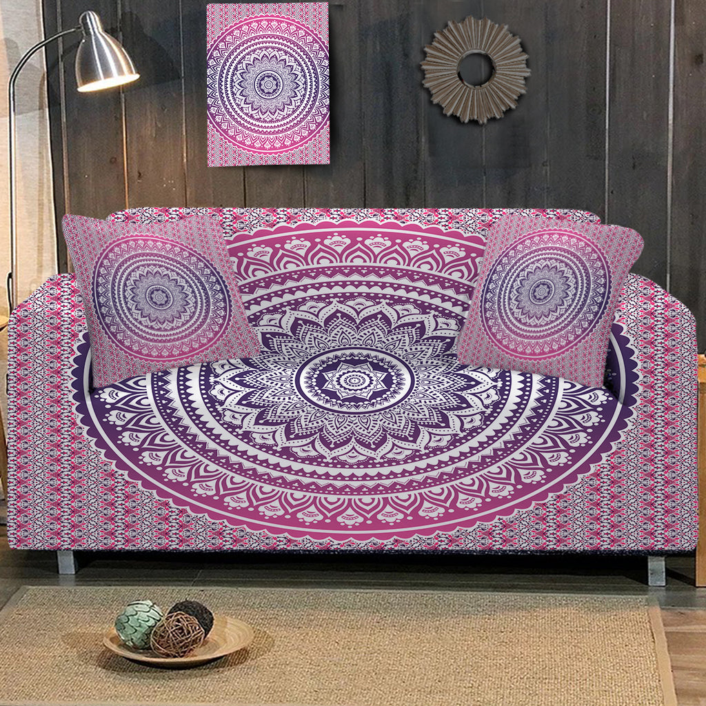 Pink Ombre Sofa Cover - Bohemian Vibes Australia