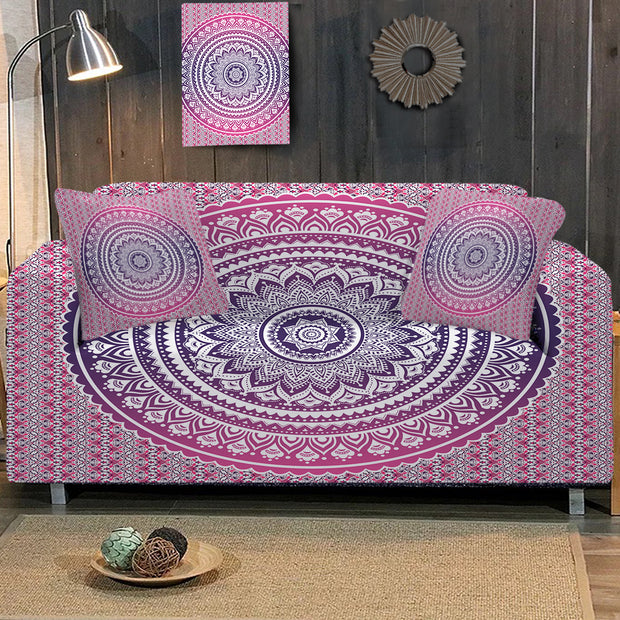 Pink Ombre Sofa Cover
