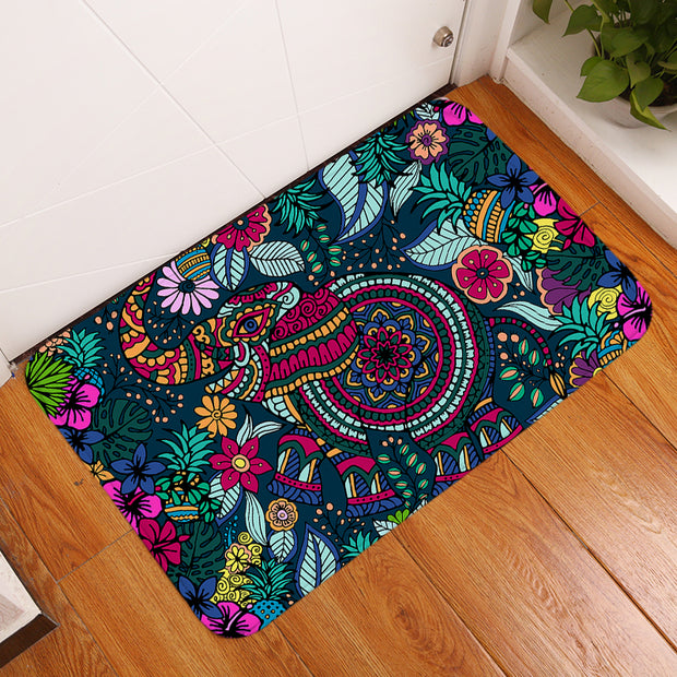 Tropical Elephant Floor Mat