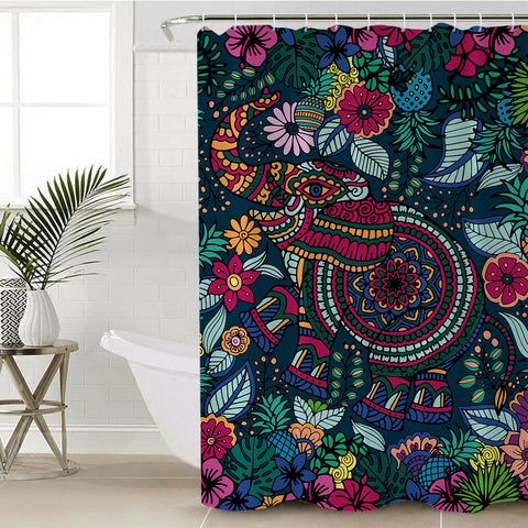 Tropical Elephant Shower Curtain