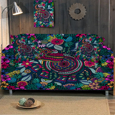 Tropical Elephant Sofa Cover