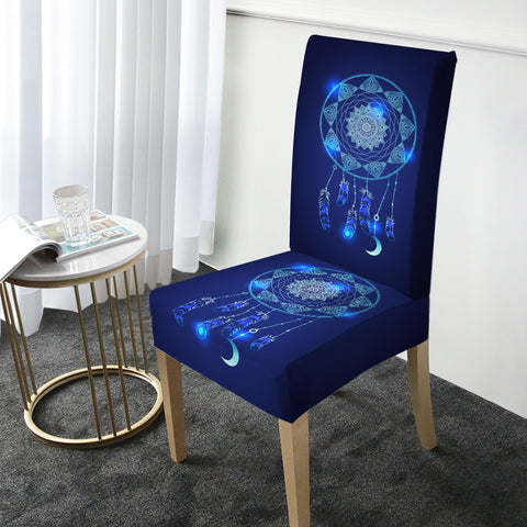Blue Dreamcatcher Chair Cover