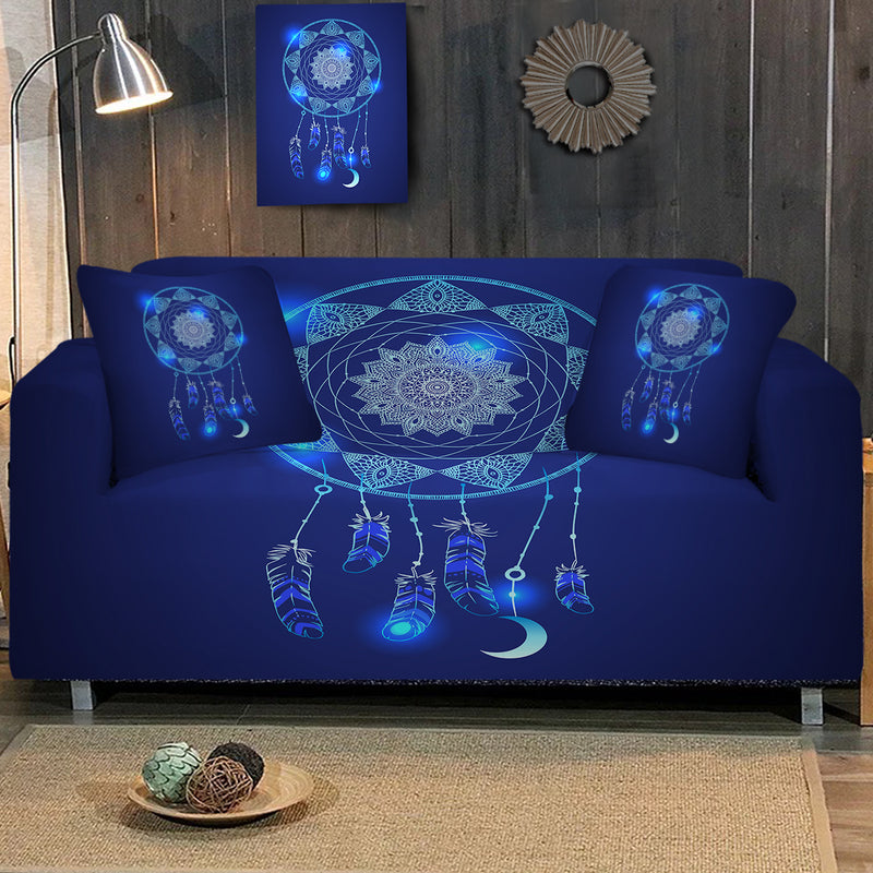 Blue Dreamcatcher Sofa Cover - Bohemian Vibes Australia