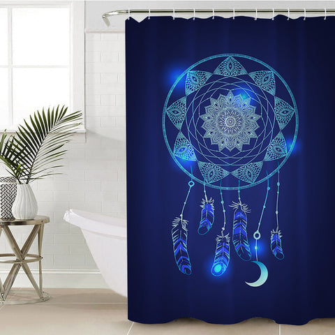Blue Dreamcatcher Shower Curtain (PRE-ORDER)