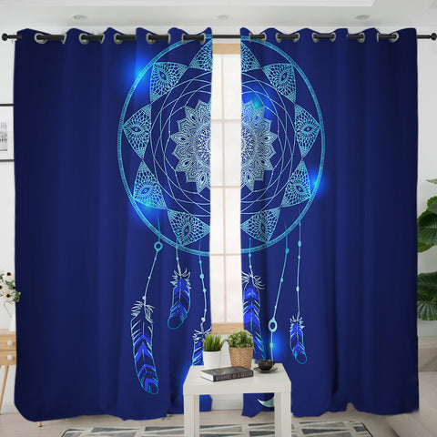 Blue Dreamcatcher Curtains