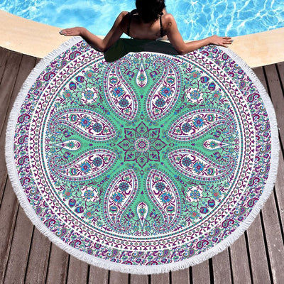 Gentle Spirit Round Beach Towel