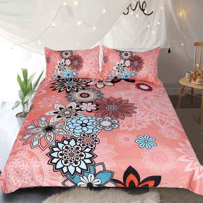 Coral Quilt Cover Set