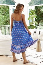 Kimi Midi Dress - Bluey - Bohemian Vibes Australia