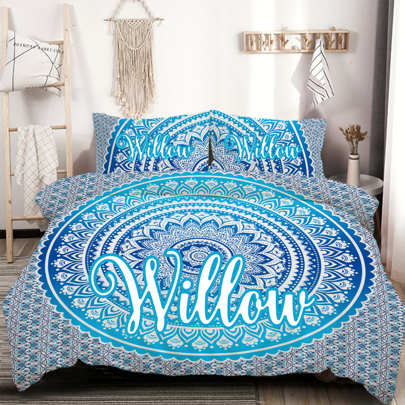 Personalised Neela Quilt Cover Set - Bohemian Vibes Australia