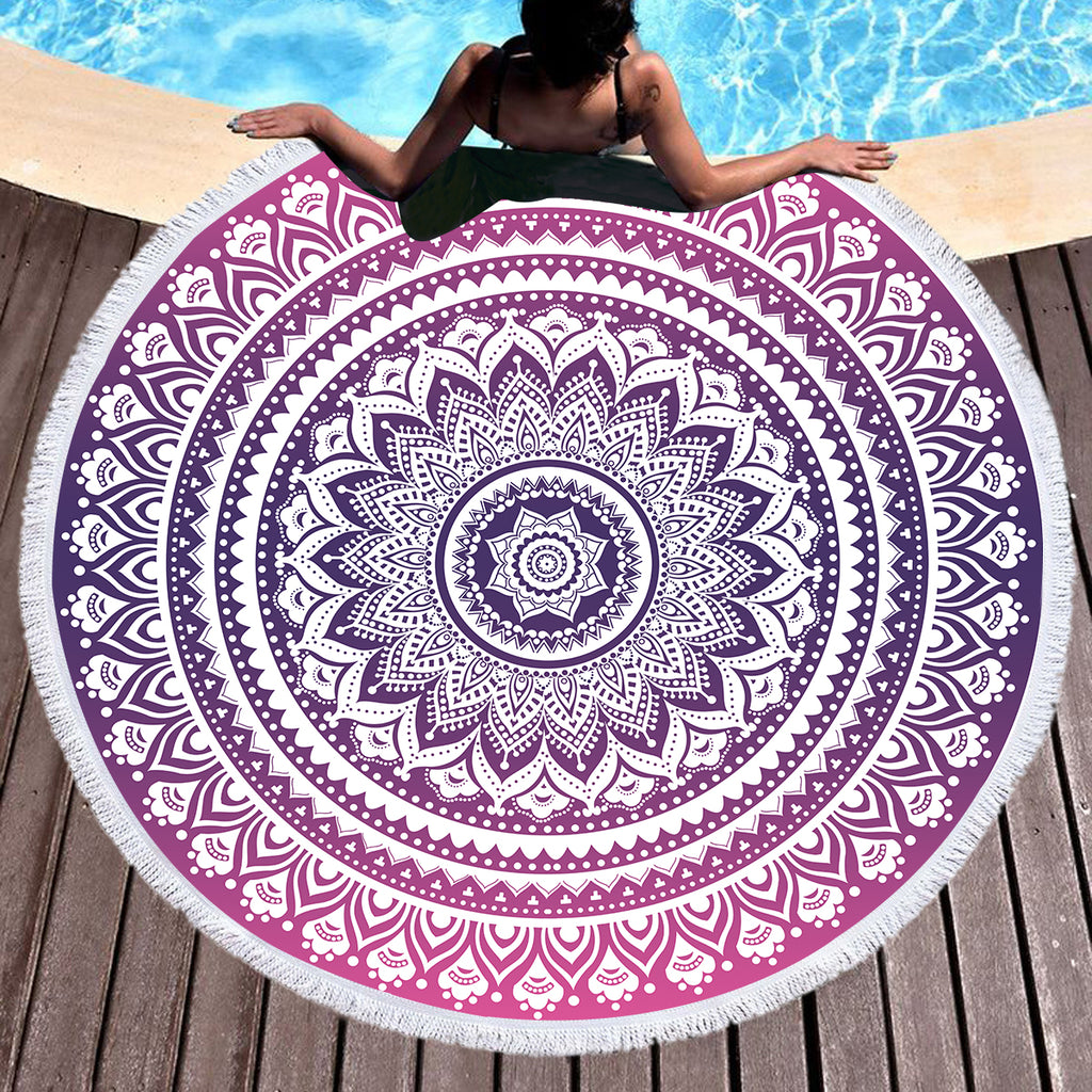Pink Ombre Throw / Beach Towel - Bohemian Vibes Australia