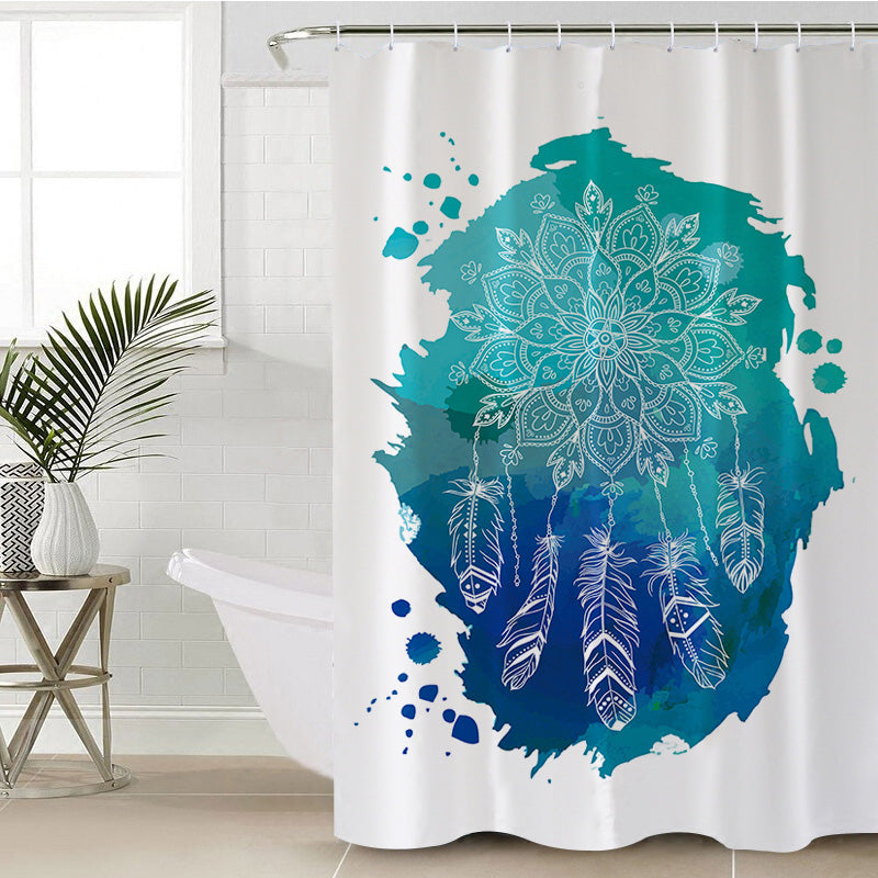 Lotus Dreamcatcher Shower Curtain - Bohemian Vibes Australia