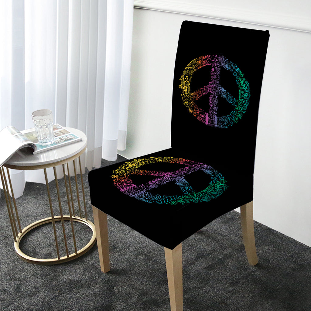 Hippie Peace Chair Cover - Bohemian Vibes Australia