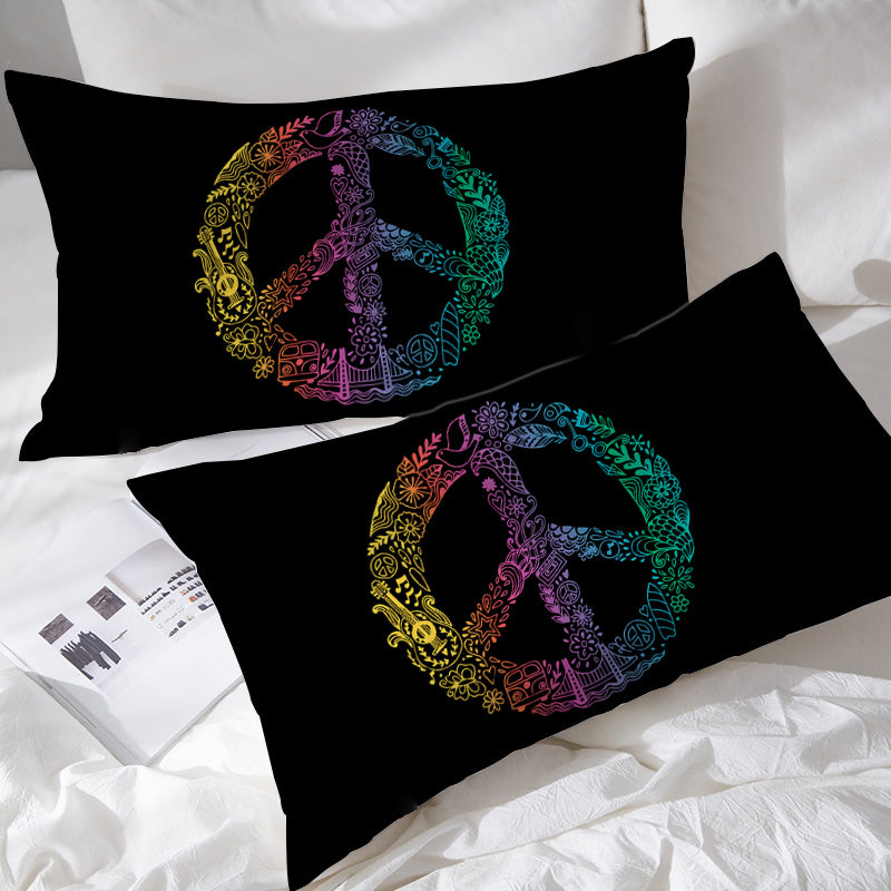Hippie Peace Pillowcases - Bohemian Vibes Australia
