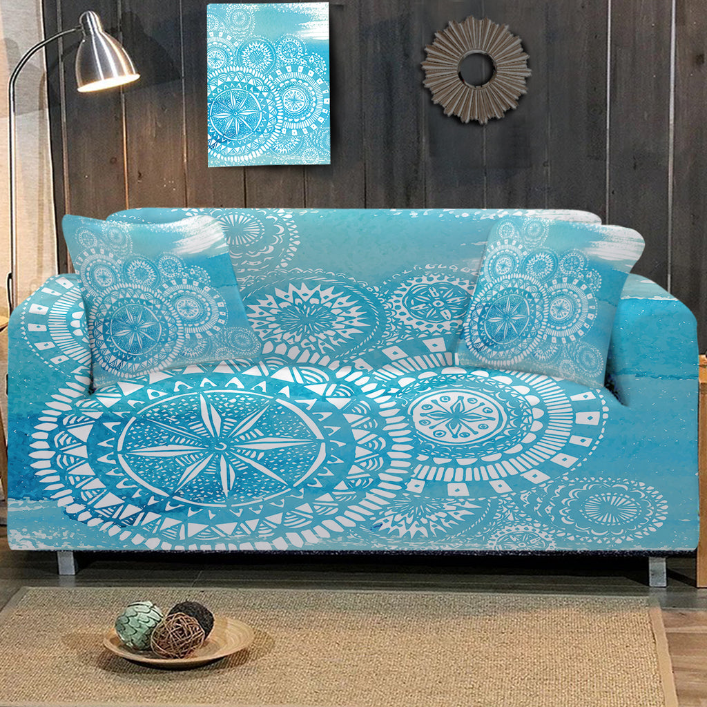 Deep Sea Sofa Cover - Bohemian Vibes Australia