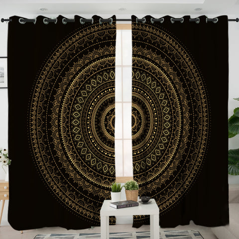Black & Gold Mandala Curtain (PRE-ORDER)