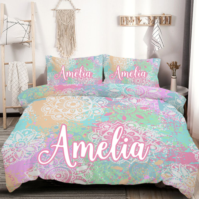 Customised Wild and Free Quilt Cover Set - Bohemian Vibes Australia
