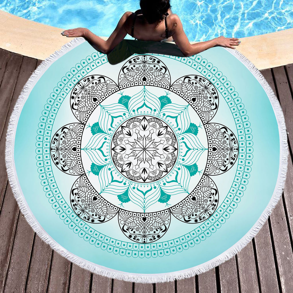 Namaste Ombre Throw / Beach Towel - Bohemian Vibes Australia
