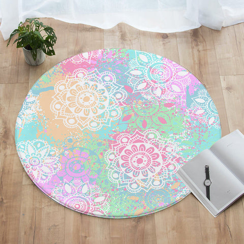 Wild and Free Round Floor Mat