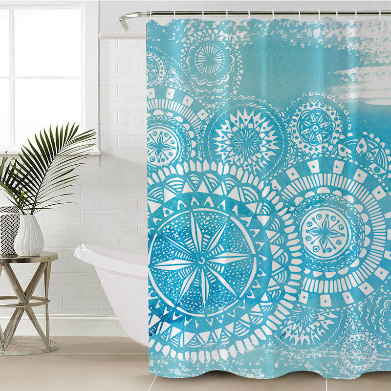 Deep Sea Shower Curtain - Bohemian Vibes Australia