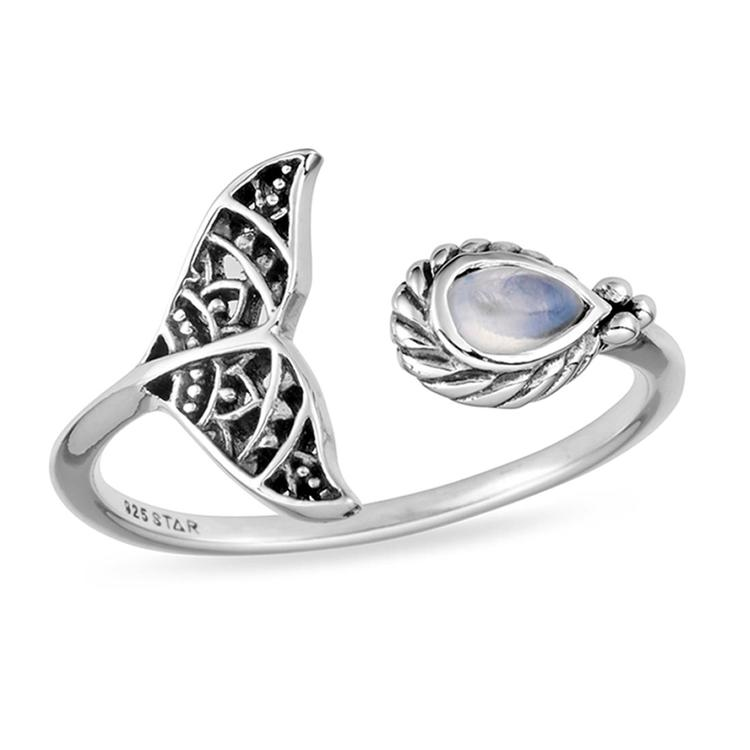 Under the Sea Moonstone Ring - 925 sterling silver - Bohemian Vibes Australia
