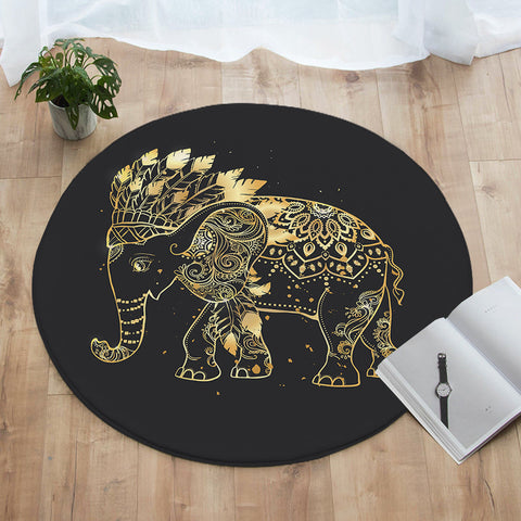 Elephant Chief Round Floor Mat (PRE-ORDER)