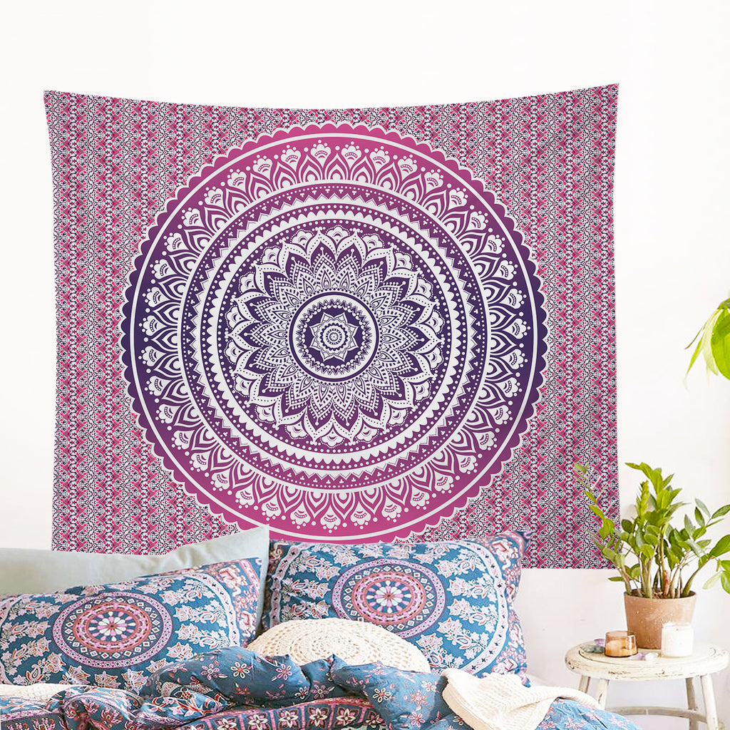 Pink Ombre Wall Tapestry - Bohemian Vibes Australia