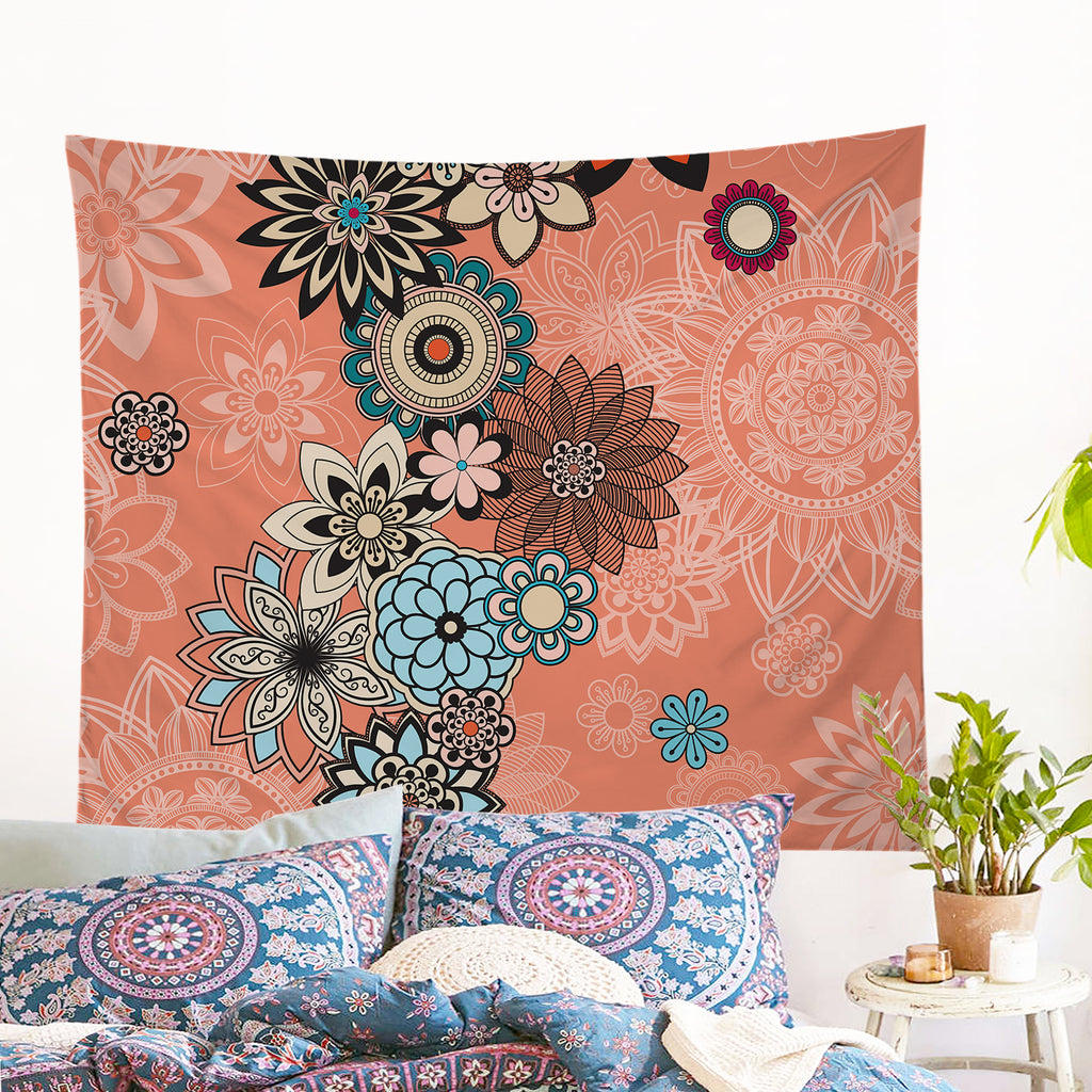 Coral Wall Tapestry - Bohemian Vibes Australia