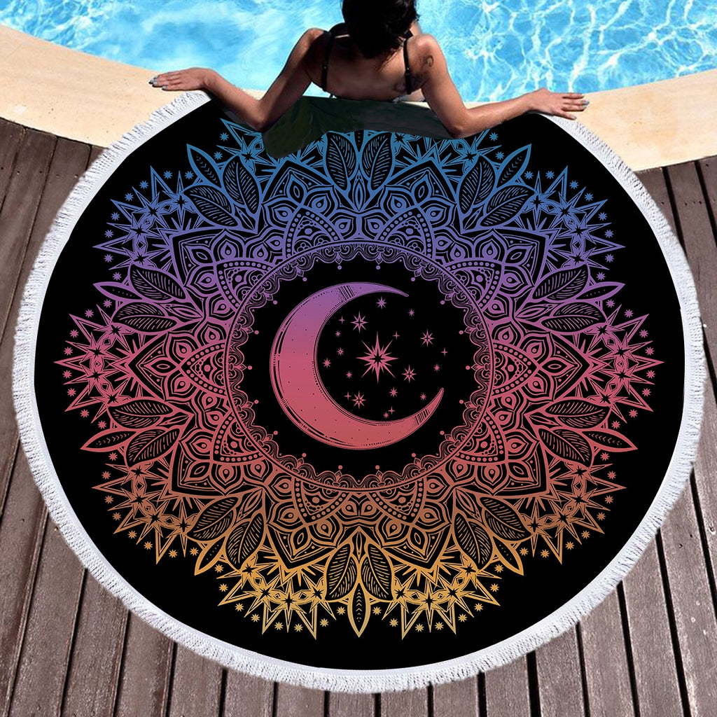 Celestial Round Throw / Beach Towel - Bohemian Vibes Australia
