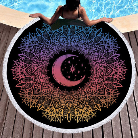 Celestial Round Throw / Beach Towel